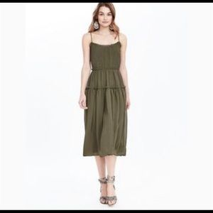 NWT Banana Republic green strappy midi dress